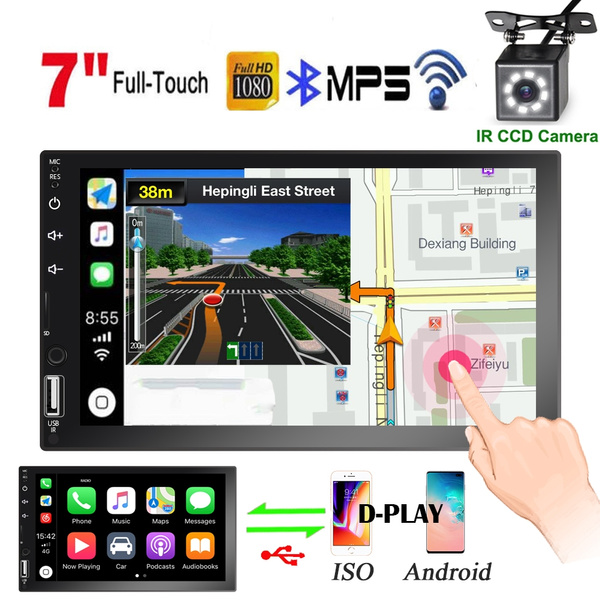 7'' HD Touch Screen Bluetooth Car MP5 Player FM/AM Radio Receiver Support  D-Play Function for Android and Iphone