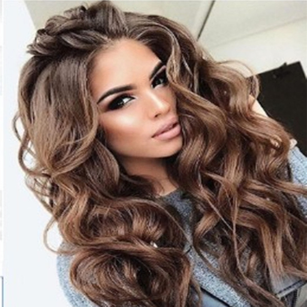 Big Wave Long Wig Natural Loose Curly Hair Wig Party Wig Beautiful Wig For Women Halloween Cosplay Wig