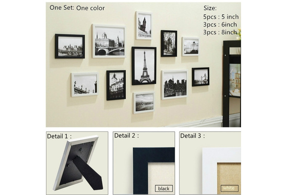 11pcs Tableing Photo Frame Set Family Picture Display Modern Art Home Decor For Hallway Bedroom Living Room Wall Decoration