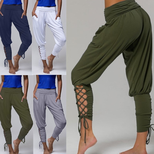 harem, trousers, Yoga, high waist
