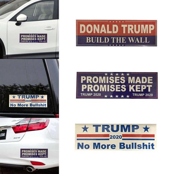 10PCS Donald Trump For President 2020 Bumper Sticker Promises Made Promises Kept