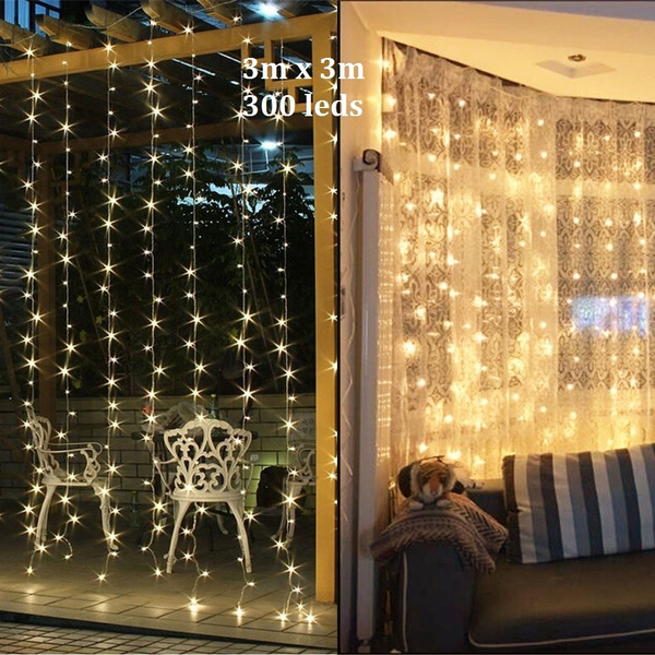 Led Christmas Lights For Room.3mx3m 300led Christmas Xmas String Fairy Wedding Curtain Light Outdoor Lighting Maiden Room Layout Lantern