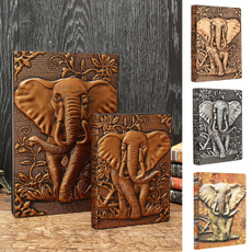 sketchbook, planner, Elephant, leather