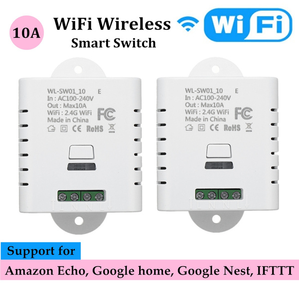 12pcs Wifi Smart Switch App Wireless Remote Control Light Share Timer Control Fit For Amazon Alexa Fit For Google Home Ifttt