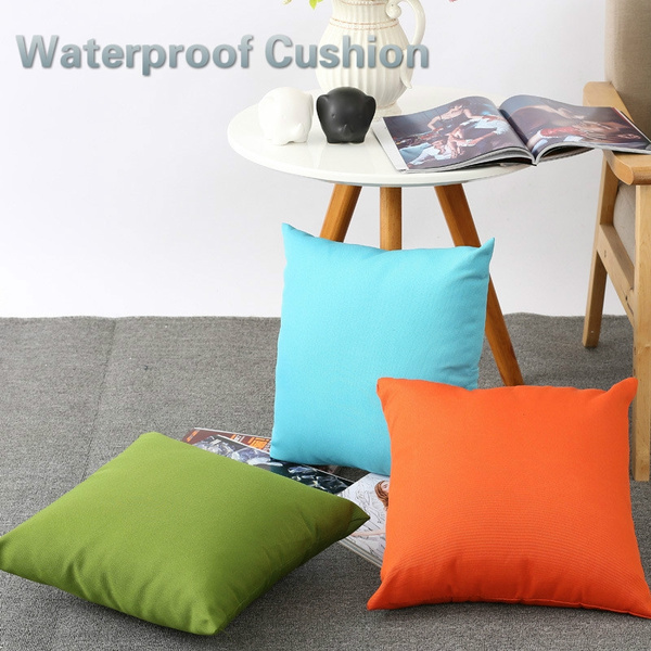 Waterproof Garden Cushion Furniture Cane Filled Cushion Cover Seat Bench Outdoor