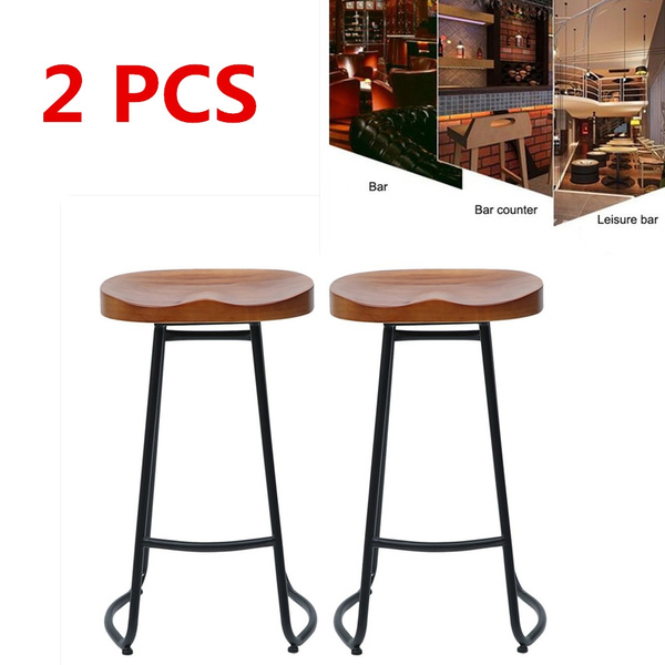 Fabulous 70Cm Pub Bar Stool 2 Pcs Backless Barstool Vintage Rustic Stool Kitchen Stool Wooden Stool Industrial Stool Home Furniture Ocoug Best Dining Table And Chair Ideas Images Ocougorg