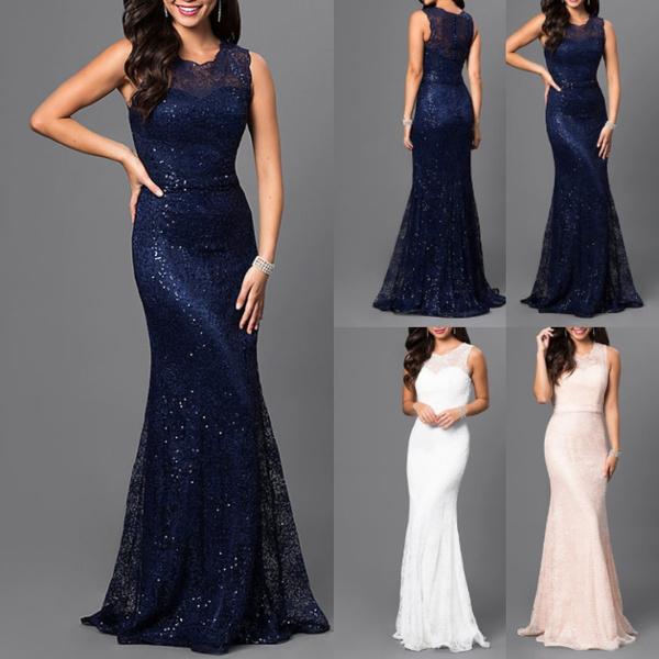 party, sleeveless, Plus Size, long dress