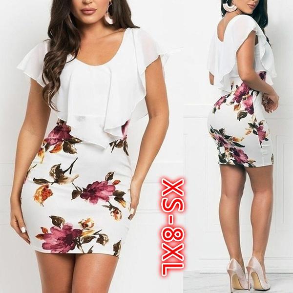slim dress, womens dresses, Floral print, women dresses