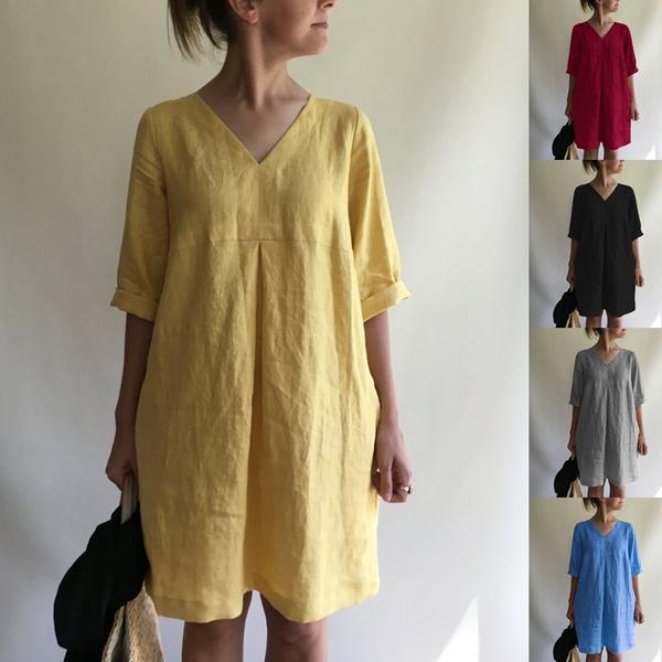 Plus Size, tunic, halfsleeve, Tunic dress
