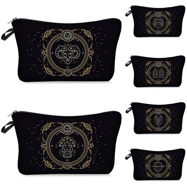 70a2726955ef Printing Makeup Bags With constellation Pattern Cute Cosmetics Pouchs For  Travel Ladies Pouch Women Cosmetic Bag