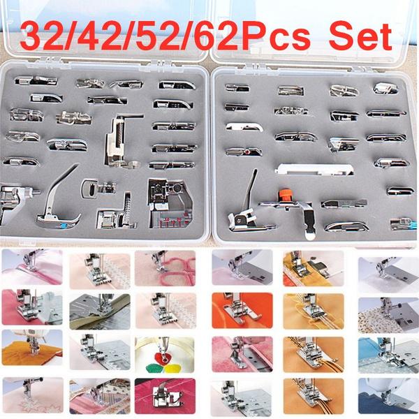 32//42//62pcs Multifunctional Domestic Sewing Machine Presser Feet Set Accessories