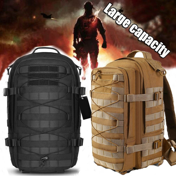 7fc4abc9ef02 1000D Nylon Tactical Backpack Military Assault Pack Army Molle Waterproof  Bug Out Bag Daypack Rucksack Bag for Camping Hiking