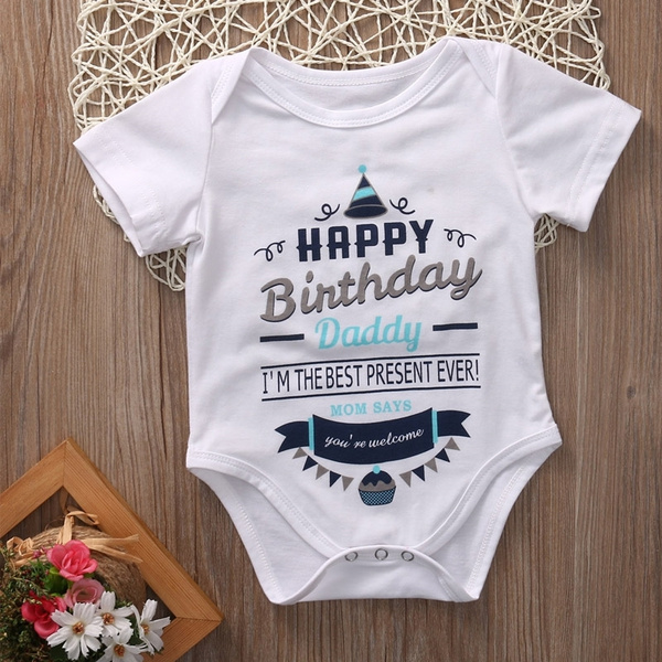 Newborn Baby Boy Girl Best Dad//Mom Ever Romper Bodysuit Jumpsuit Outfits Clothes
