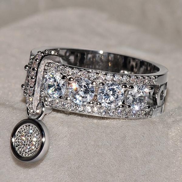 White Gold, Sterling, Fashion, wedding ring