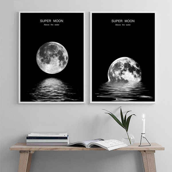 Moon Wall Art Canvas Painting Nordic