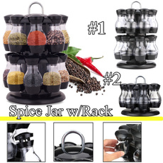 Bottle, kitchen tools, grinder, rotatingspicerack