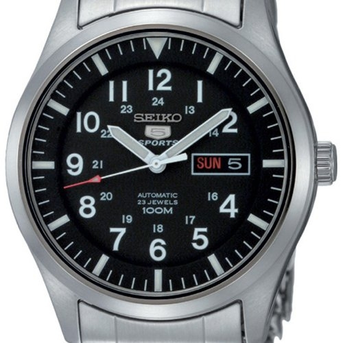 Seiko 5 Military Automatic Watch See-thru Back Nylon SNK809K2