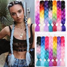 multicolorhair, Hairpieces, braidinghair, Hair Extensions