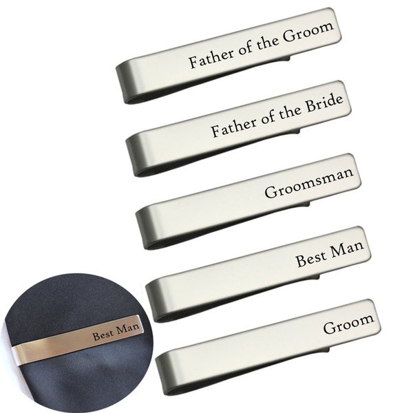 Steel, Stainless Steel, Tie Clips, decoration