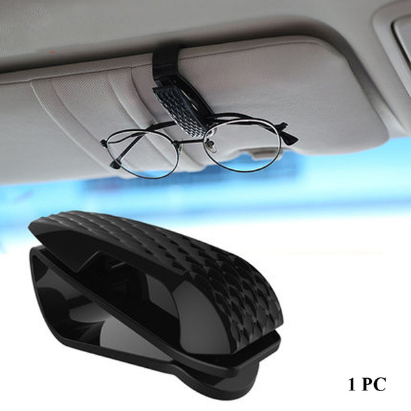 Sun Visor Bill Clamp Sunglasses Case Auto Fastener Clip Car Glasses Holder