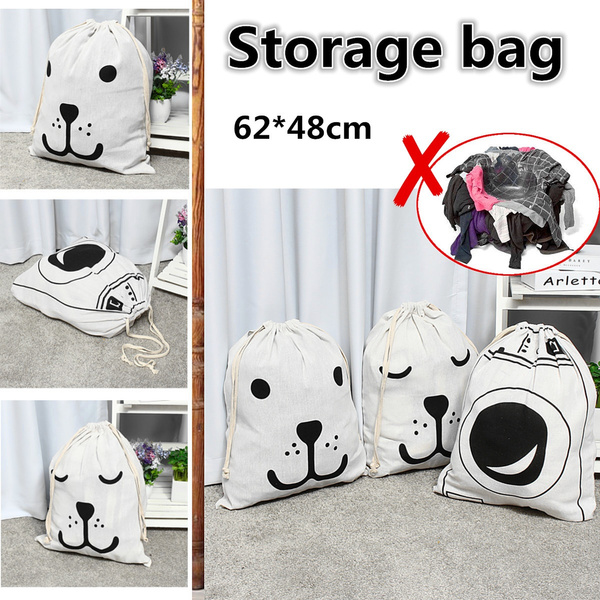 Multifunction Laundry Basket Dirty Clothes Toy Storage Bag  Hamper Loose Strap