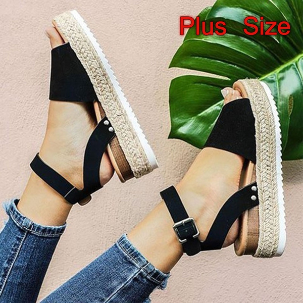 cheap for sale utterly stylish wholesale 2019 New Fashion Sandal Wome European and American Woven Platform ...