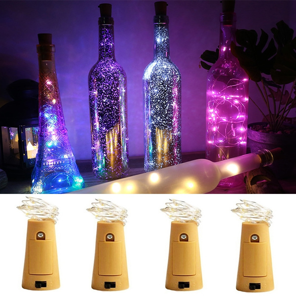 bottle LED decoration wedding holiday party cork built string mini lamp with Wine in cork lamp battery light QoshtrdCxB