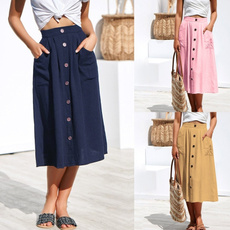 Summer, long skirt, Fashion, Waist