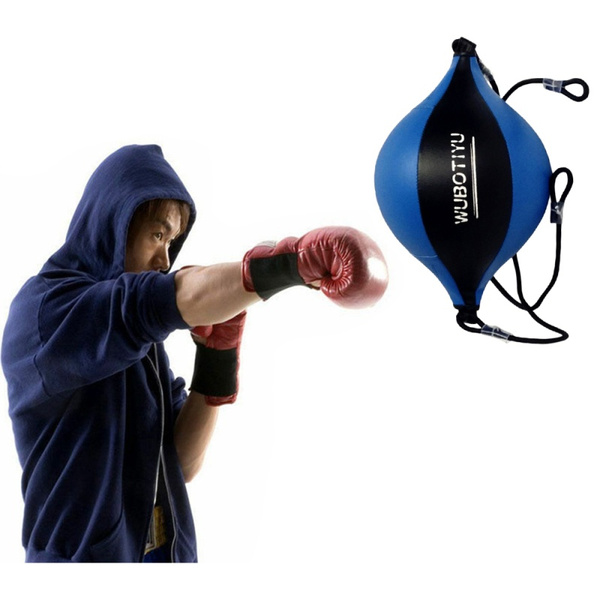 TItan MMA Boxing Floor to Ceiling Punching Bag Dodge Speed Ball Double Leather