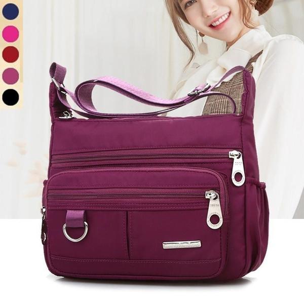 Women Quality Waterproof Nylon Causal Shoulder Tote Handbag Crossbody Messenger