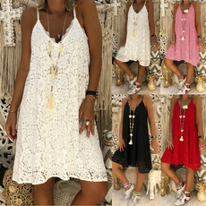 Summer, Lace, Dress, Lace Dress