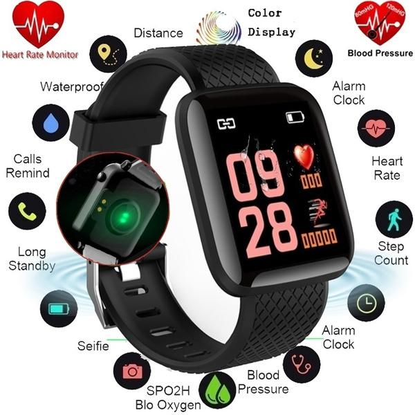 116 PLUS Fashion New Color Screen Fitness Watch Activity Tracker Smart  Bracelet IP67 Waterproof Health Smart Watch PK Fitbit Charge 2 Fitbit Versa