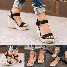 wedge, Sandals, Summer, strap