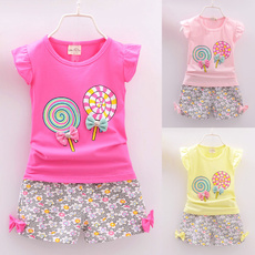 Summer, Baby Girl, pants, outfitset