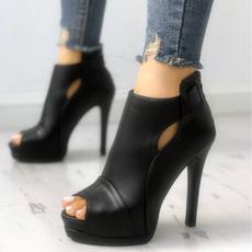 stilettoheel, Summer, Plus Size, Platform Shoes