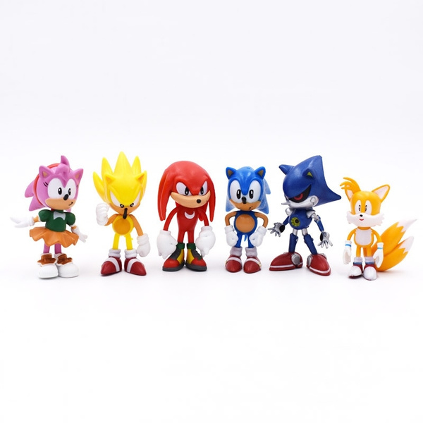 6pcs Amy Rose Knuckles Echidna The Echidna Sonic Shadow Hedgehog Pvc Figures Toy Wish
