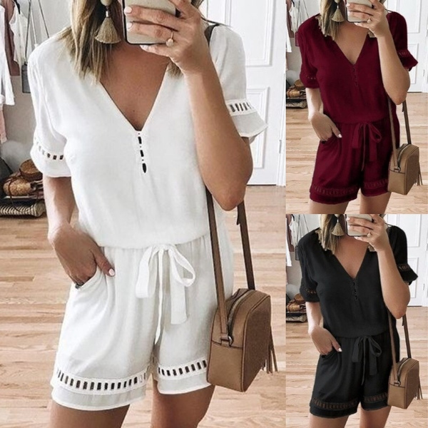 Women Rompers, Fashion, looseblouse, summer shorts