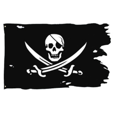 Pirate, pirateflag, skull, crossbroadsword