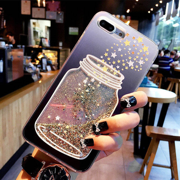 Bling Love Heart Clear Case For iPhone X XS XR XS Max 8 7 6 6S