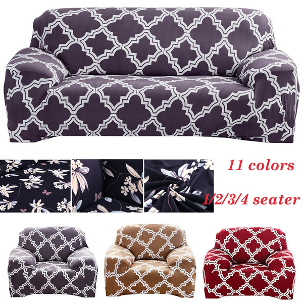 Amazing Vintage Printed 1 2 3 4 Seater Chair Sofa Cover Stretch Fitted Protector Couch Elastic Slipcover Sofabezug Forskolin Free Trial Chair Design Images Forskolin Free Trialorg