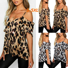 blouse, Summer, fashion women, coldshouldertopsforwomen