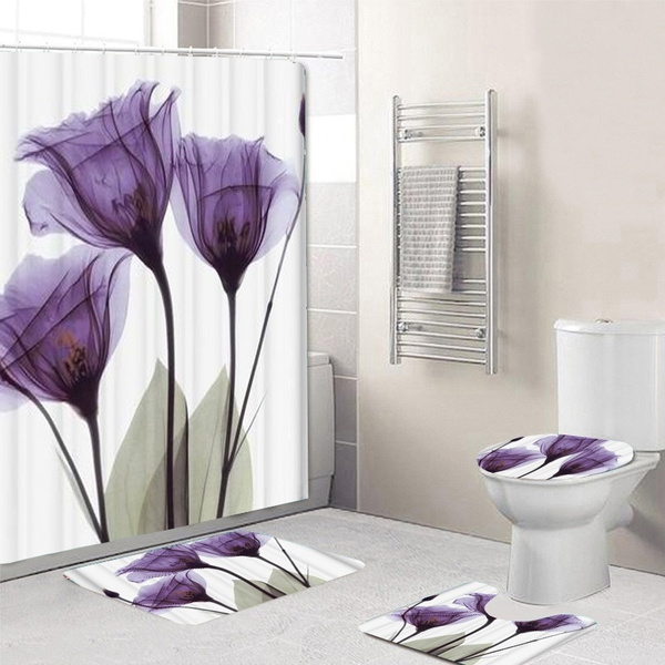 Tulips Lavender Hope Shower Curtain