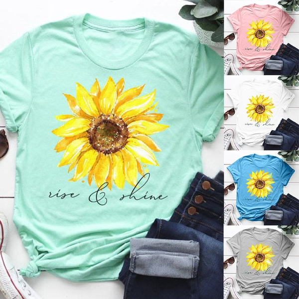 riseandshinetshirt, sunflowertee, Shirt, Sunflowers