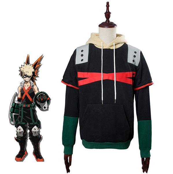 My Hero Academia Bakugou Katsuk Hoodies Coat Sweatshirt Unisex Cosplay Costume