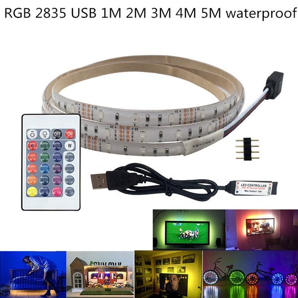 5V USB LED Strip light RGB 2835 HDTV TV Desktop PC Screen Backlight Bias lightin
