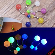 Steel, navel rings, nombrilombligo, glowingbellyring