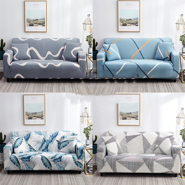 Wish |   1/2/3/4seats Dust and anti-fouling printed sofa cover Pet sofa cover  All-inclusive elastic universal sofa cover sofa towel sofa cushion