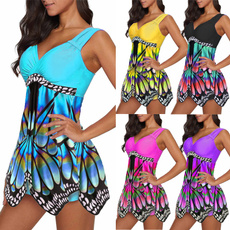butterflyprint, Summer, Plus Size, SwimwearWomen