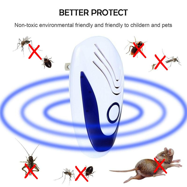 Pest Repeller Insects Rodents Protection Ultrasonic Electronic Ultrasound Indoor