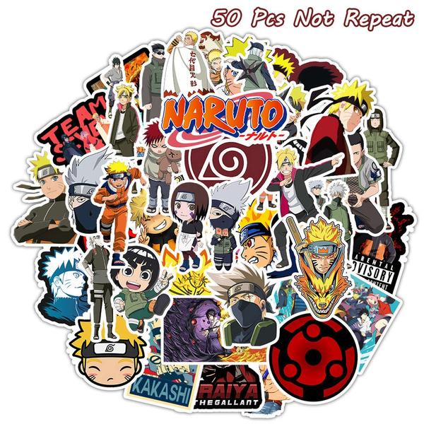 50 pcs japanese anime stickers uzumaki